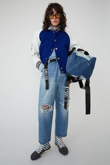 아크네 스튜디오 Acne Studios Letterman jacket ocean blue