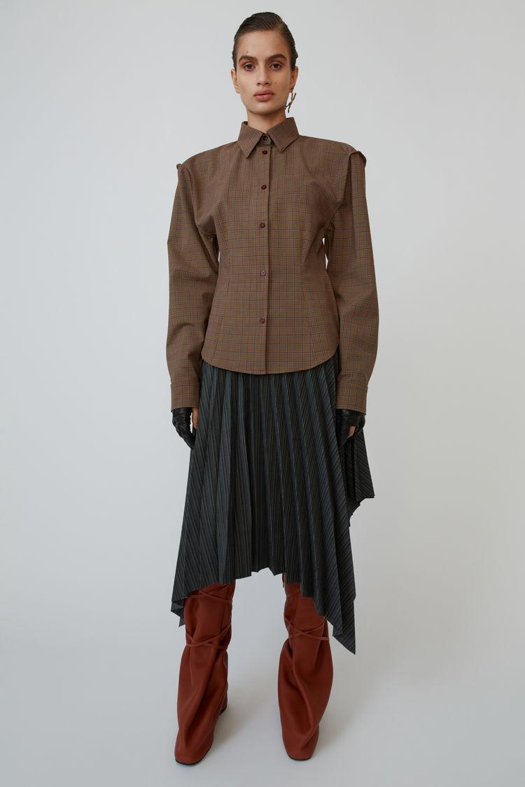 아크네 스튜디오 Acne Studios Asymmetrical skirt black/beige