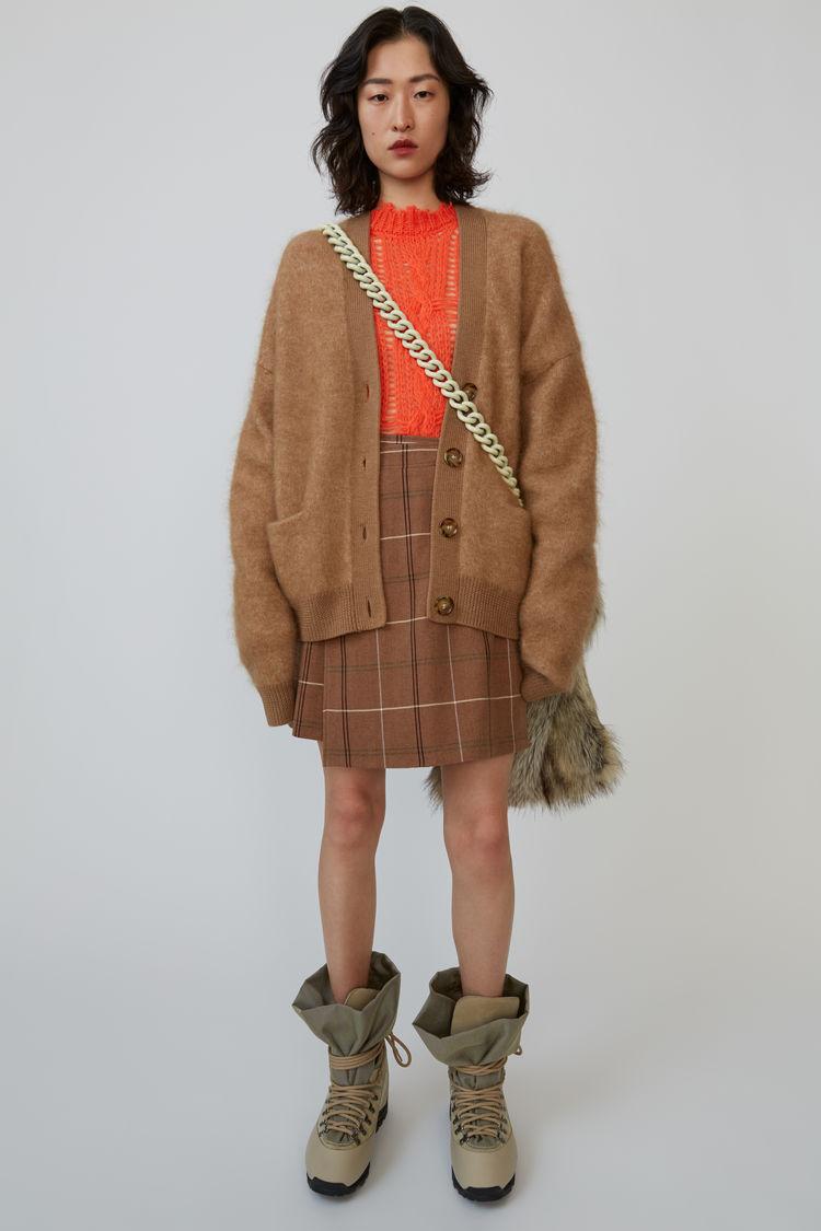 아크네 스튜디오 Acne Studios Mini wrap-skirt brown/white