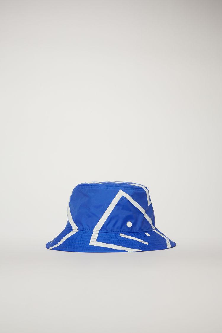 아크네 스튜디오 Acne Studios Face-motif bucket hat electric blue
