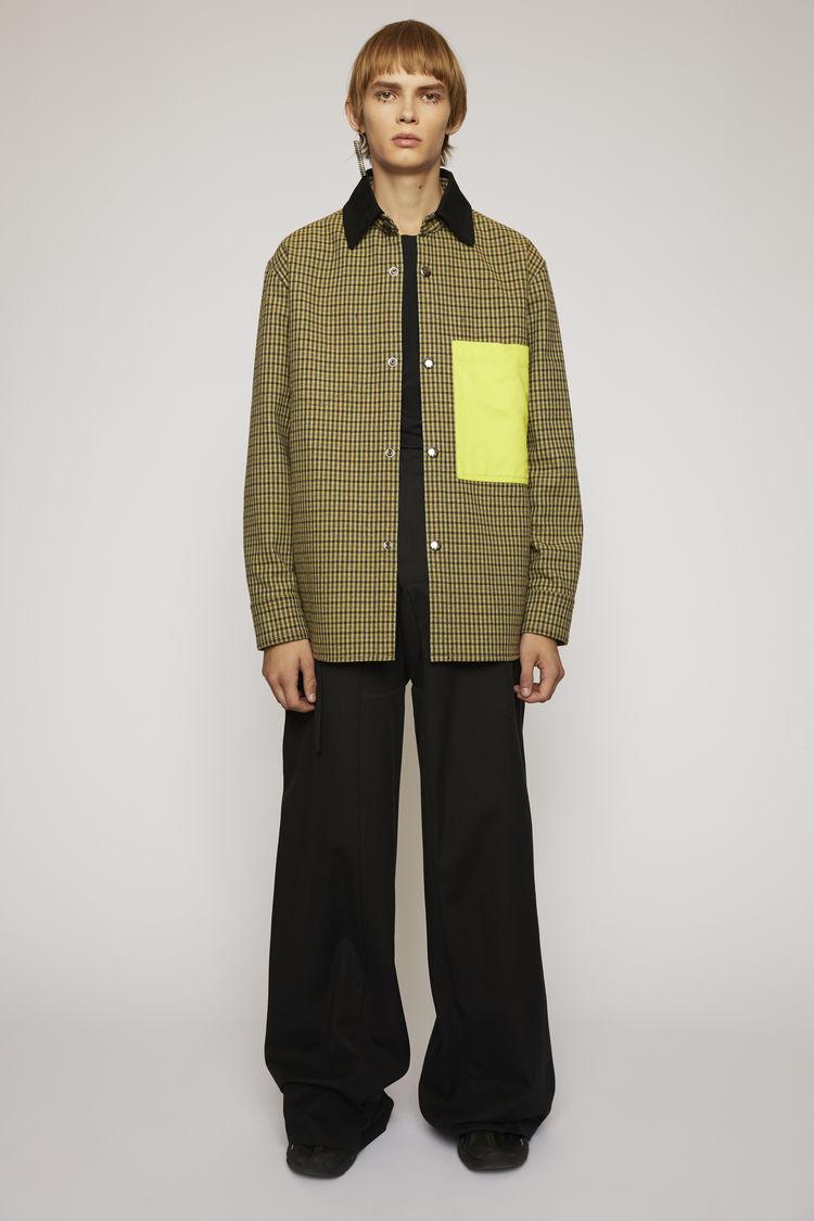 아크네 스튜디오 Acne Studios Vichy-check chore jacket brown/yellow