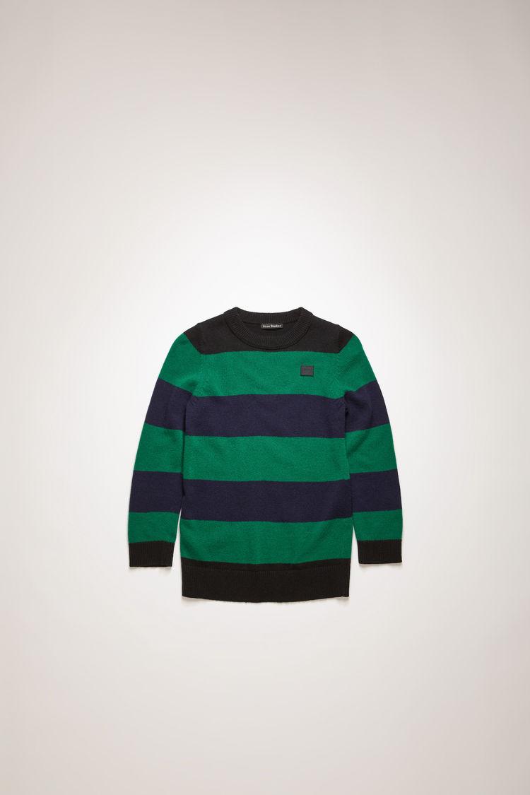 아크네 스튜디오 아동 스웨터 페이스 로고 Acne Studios Mini block-striped sweater black/multi
