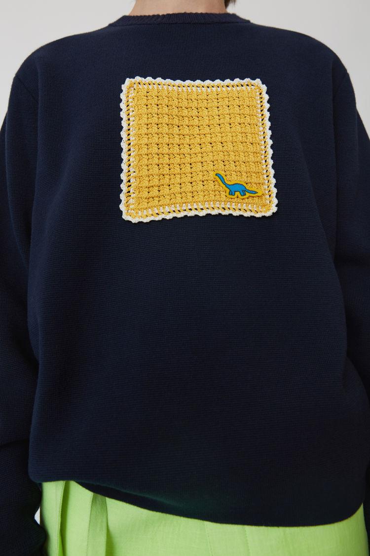 Acne Studios - Applique sweater Navy blue - 5