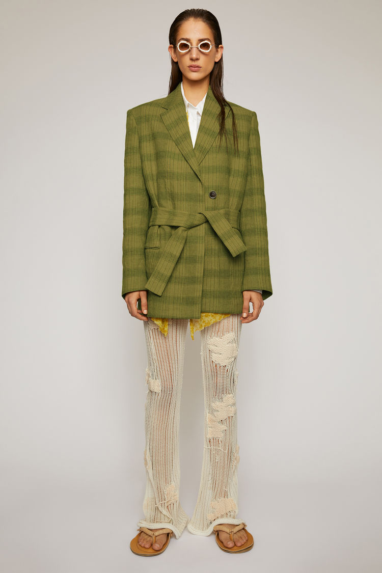 아크네 스튜디오 Acne Studios Checked suit jacket green/grey