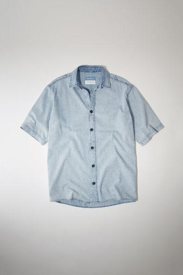 아크네 스튜디오 Acne Studios Short-sleeved denim shirt light blue