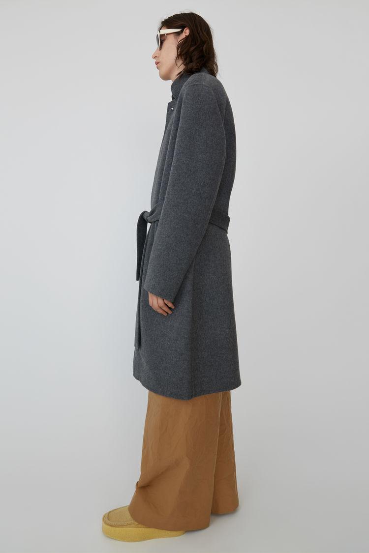 Acne Studios - Slim Cashmere blend coat Medium grey melange - 4