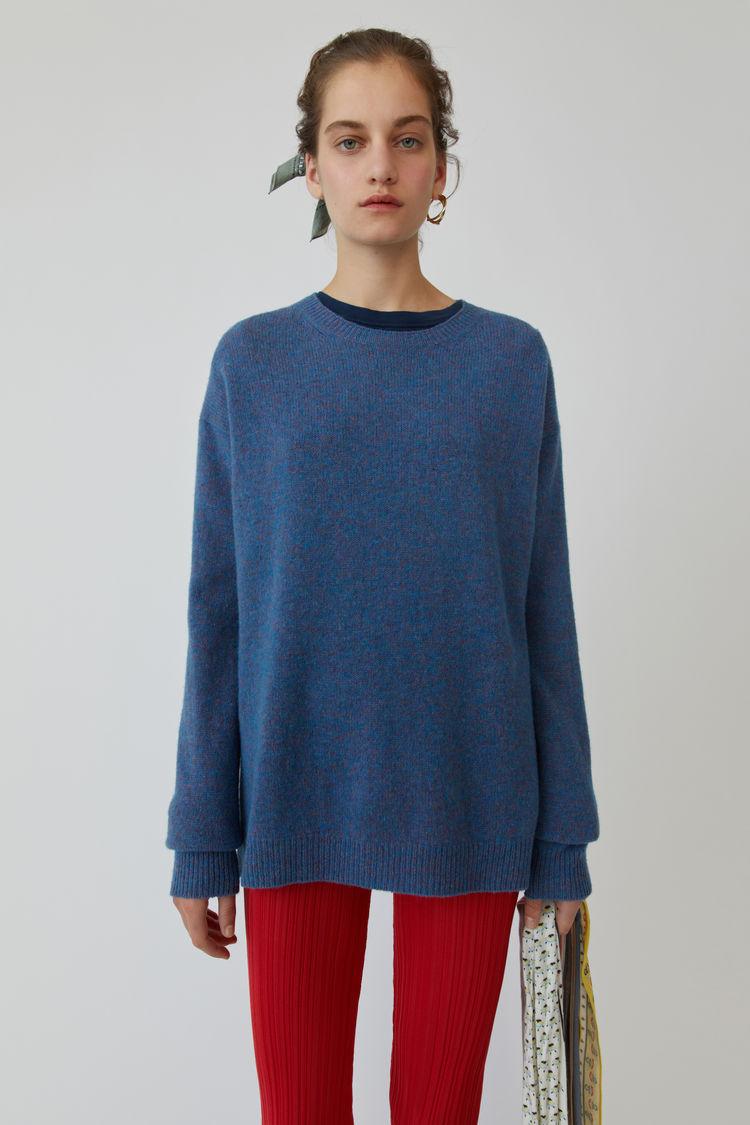 아크네 스튜디오 스웨터 Acne Studios Heathered sweater blue melange