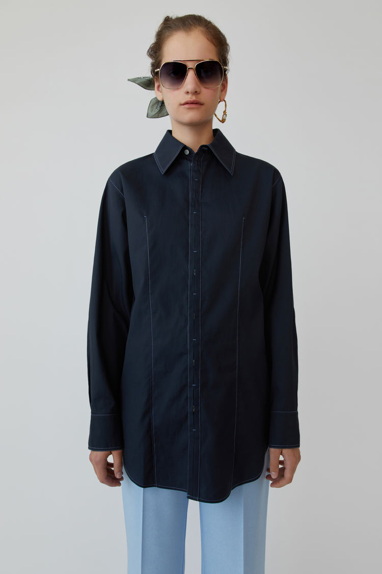 Acne Studios - Long-sleeved shirt Navy blue - 1