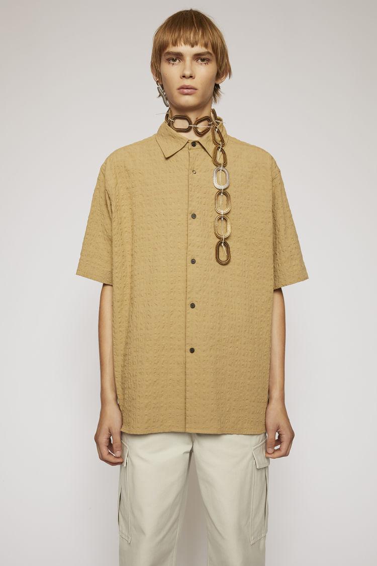 아크네 스튜디오 Acne Studios Seersucker shirt mushroom beige