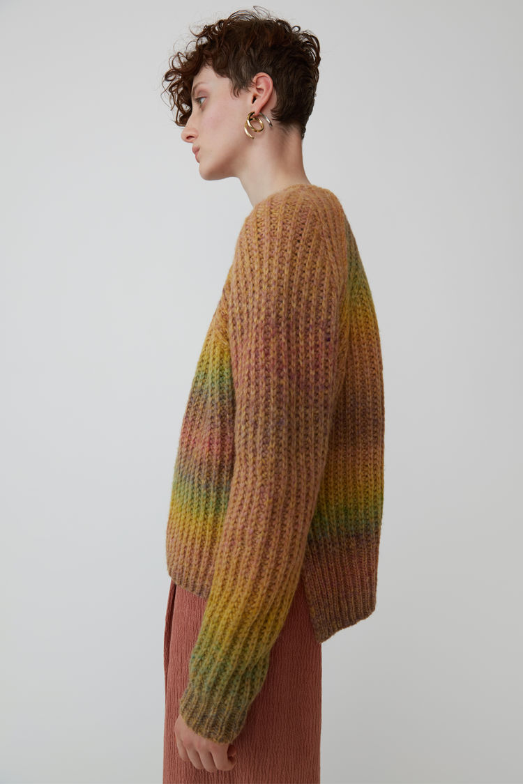 Acne Studios - OmbrZ striped sweater Yellow/pink - 4