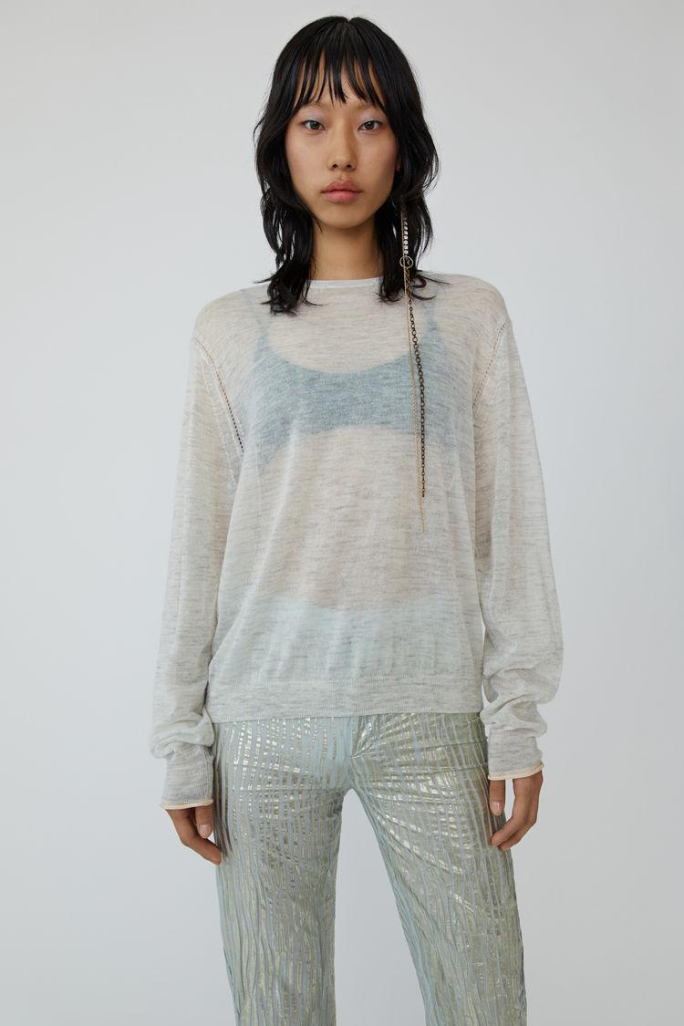 아크네 스튜디오 니트 Acne Studios Mohair knit white melange