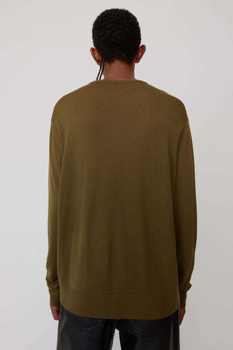 Acne Studios - Classic sweater Olive green - 3