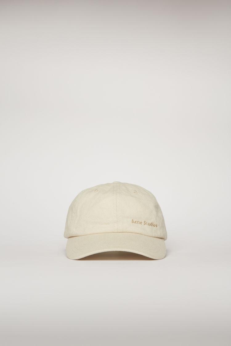아크네 스튜디오 Acne Studios Logo-embroidered cap ecru beige