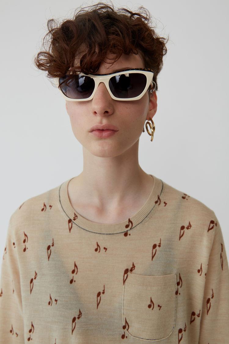 Acne Studios - Patterned sweater Beige melange - 2