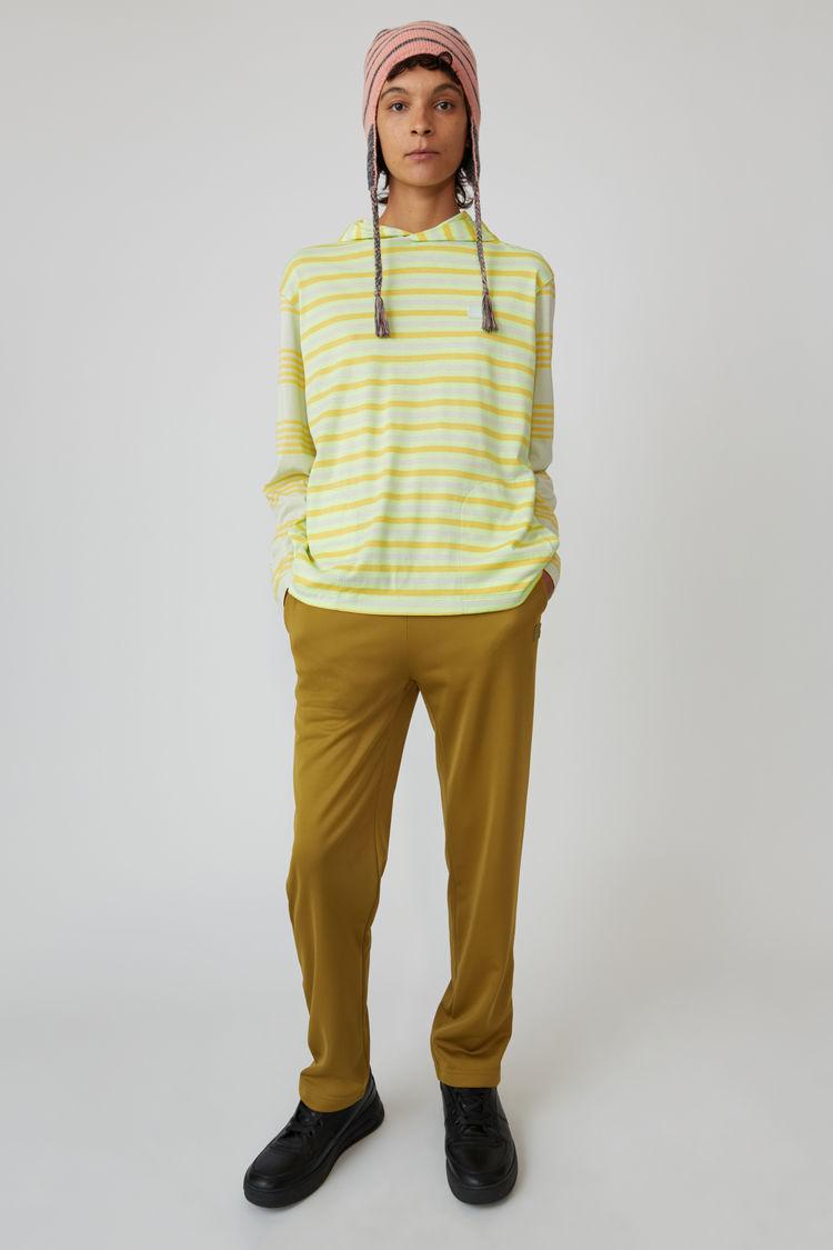 Acne Studios - Kapuzen-T-Shirt mit langem Arm Pastellgrün - 1