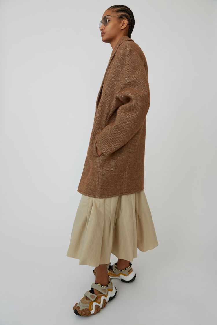 Acne Studios - Cocoon jacket Camel brown - 4