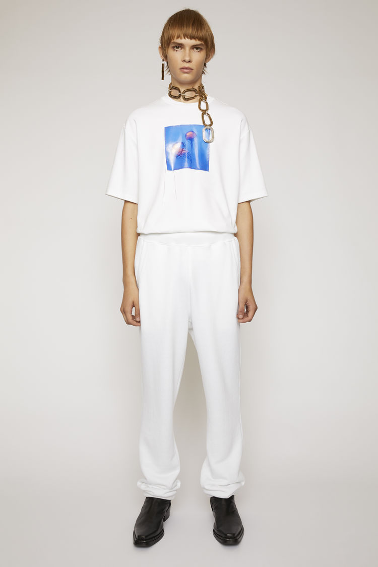아크네 스튜디오 Acne Studios Reverse label sweatpants optic white