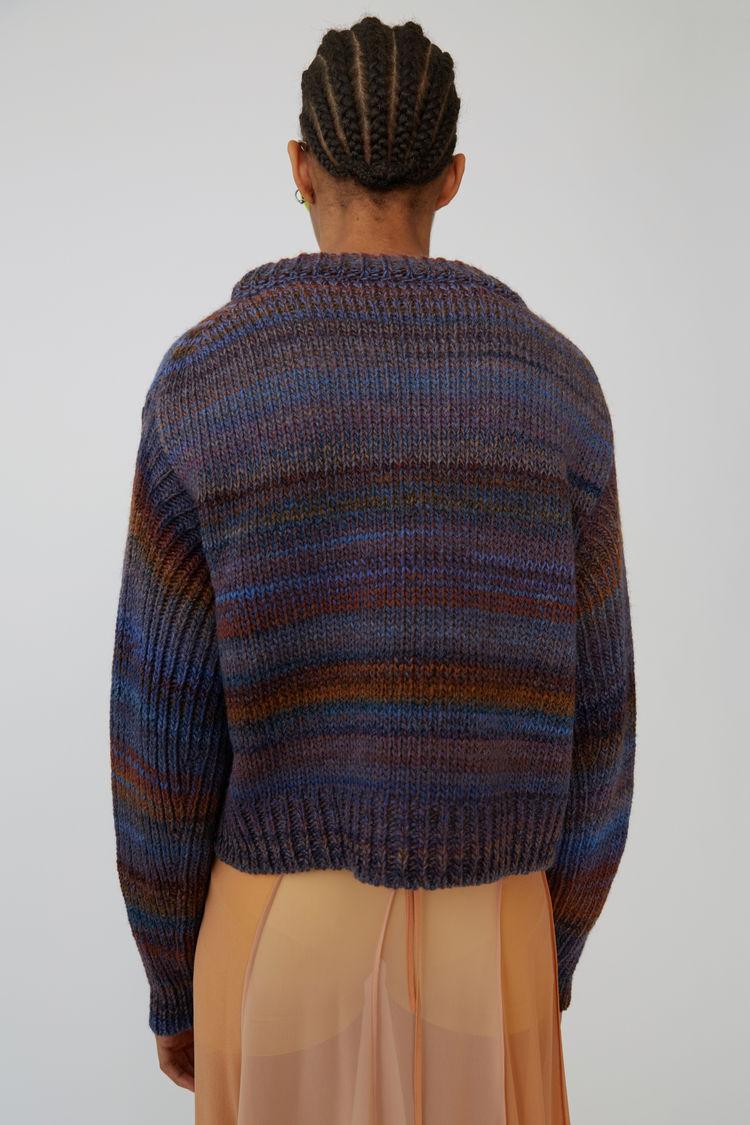 Acne Studios - Chunky striped sweater Rust/blue - 3