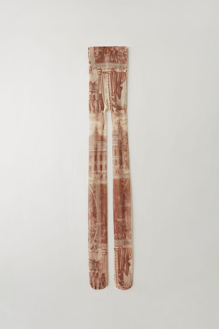 아크네 스튜디오 타이즈 Acne Studios Printed tights beige/brown