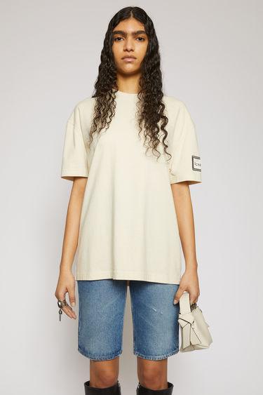 아크네 스튜디오 Acne Studios Logo-label t-shirt warm white