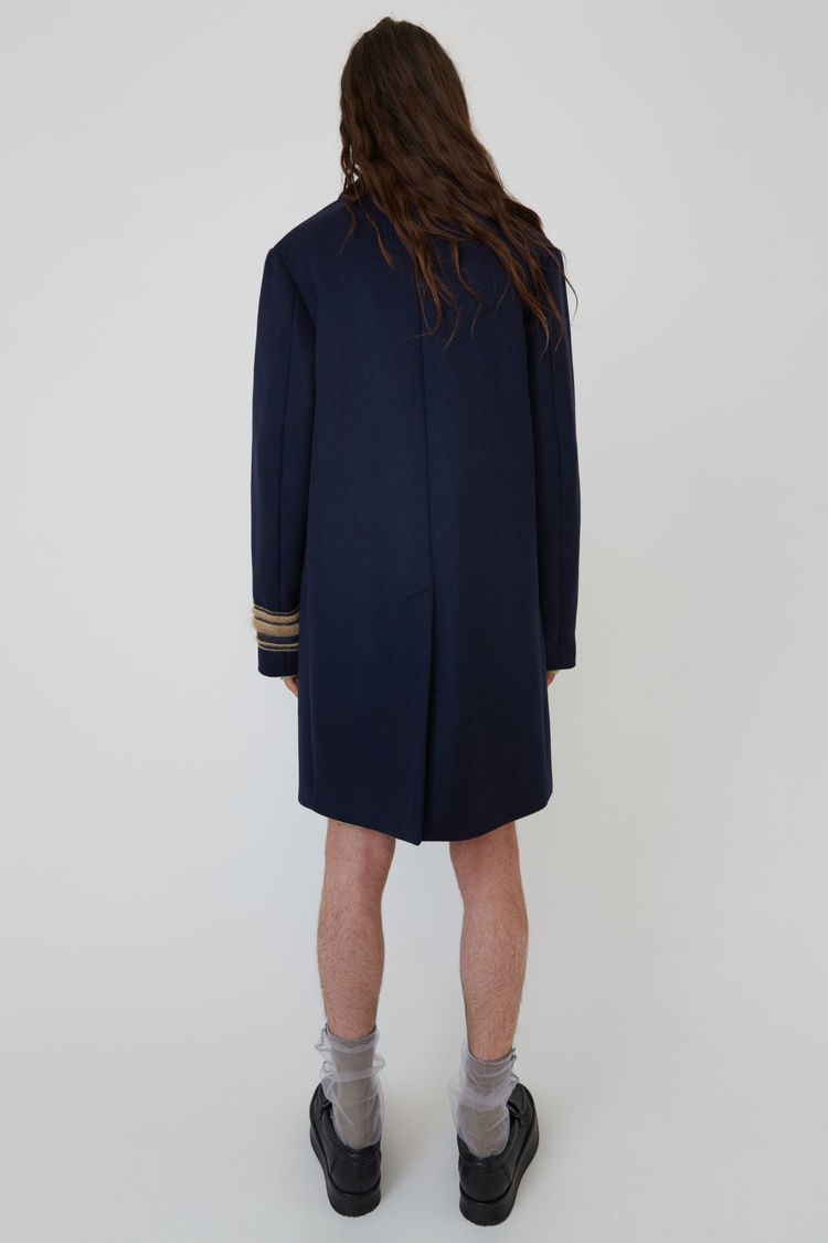 Acne Studios - Wool coat Navy blue - 3