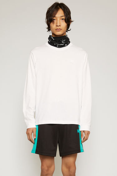 아크네 스튜디오 Acne Studios Long sleeve crew neck optic white