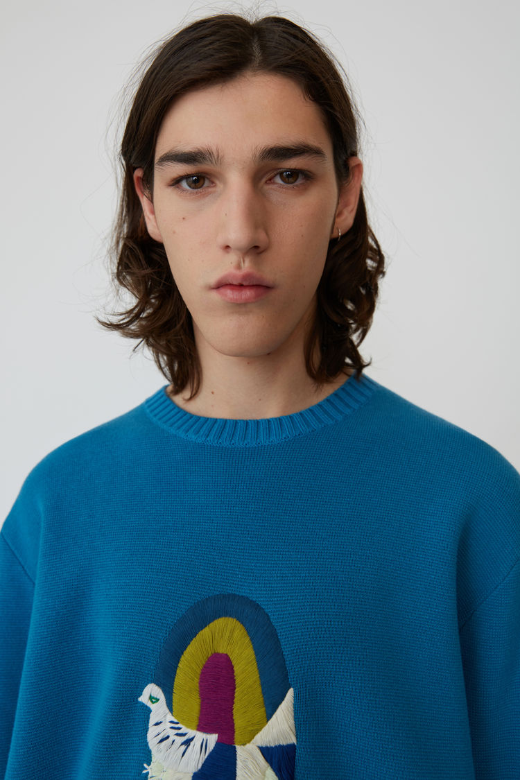 Acne Studios - Relaxed fit pullover Turquoise blue - 2