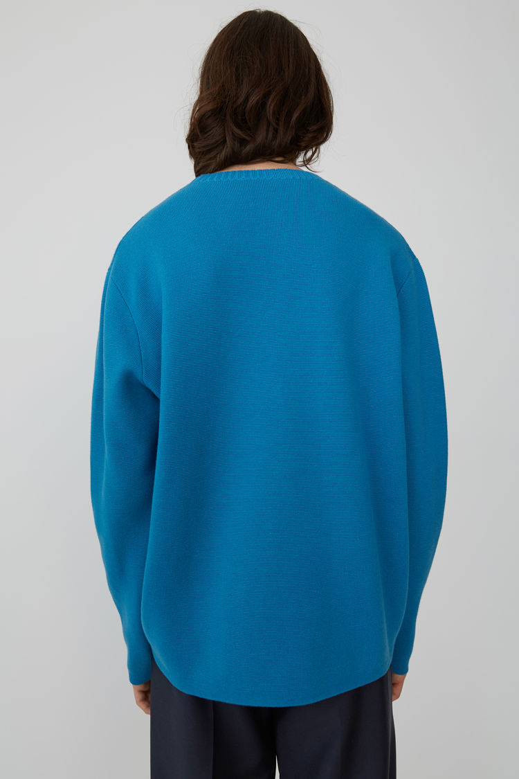 Acne Studios - Relaxed fit pullover Turquoise blue - 3