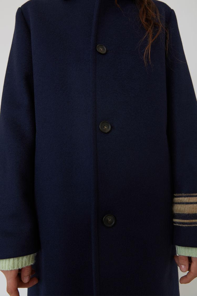 Acne Studios - Wool coat Navy blue - 5