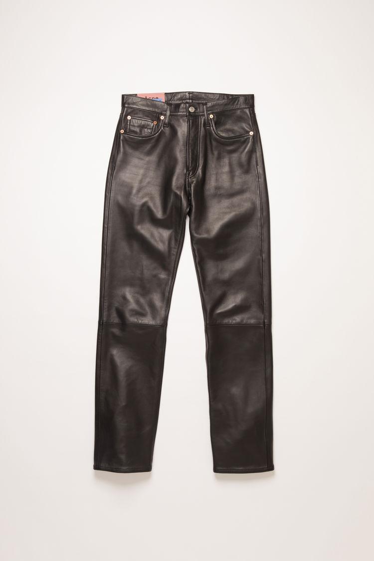 아크네 스튜디오 Acne Studios Leather trousers black