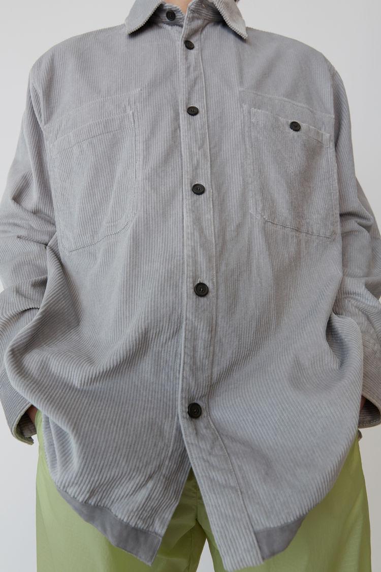 Acne Studios - Corduroy shirt Light grey - 5