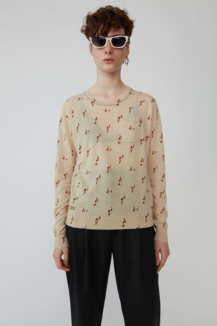 Acne Studios - Patterned sweater Beige melange - 1