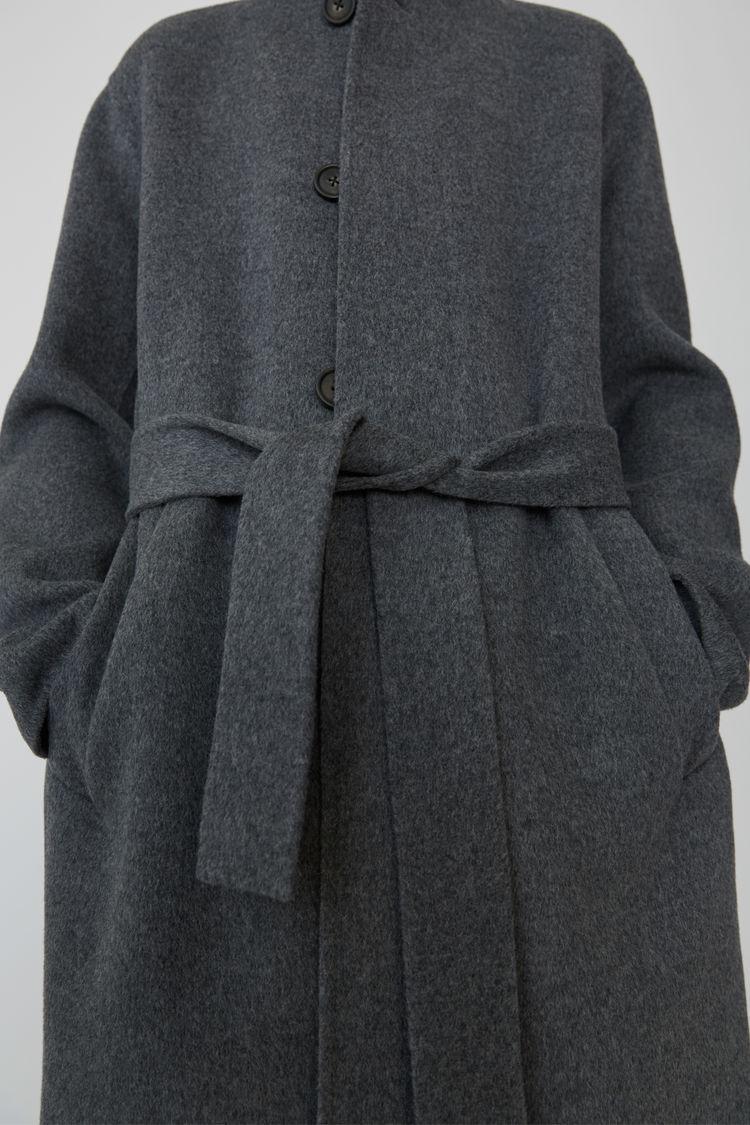 Acne Studios - Slim Cashmere blend coat Medium grey melange - 5