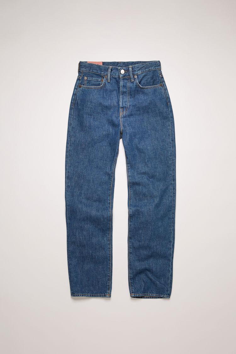 아크네 스튜디오 Acne Studios Cropped straight fit jeans dark blue