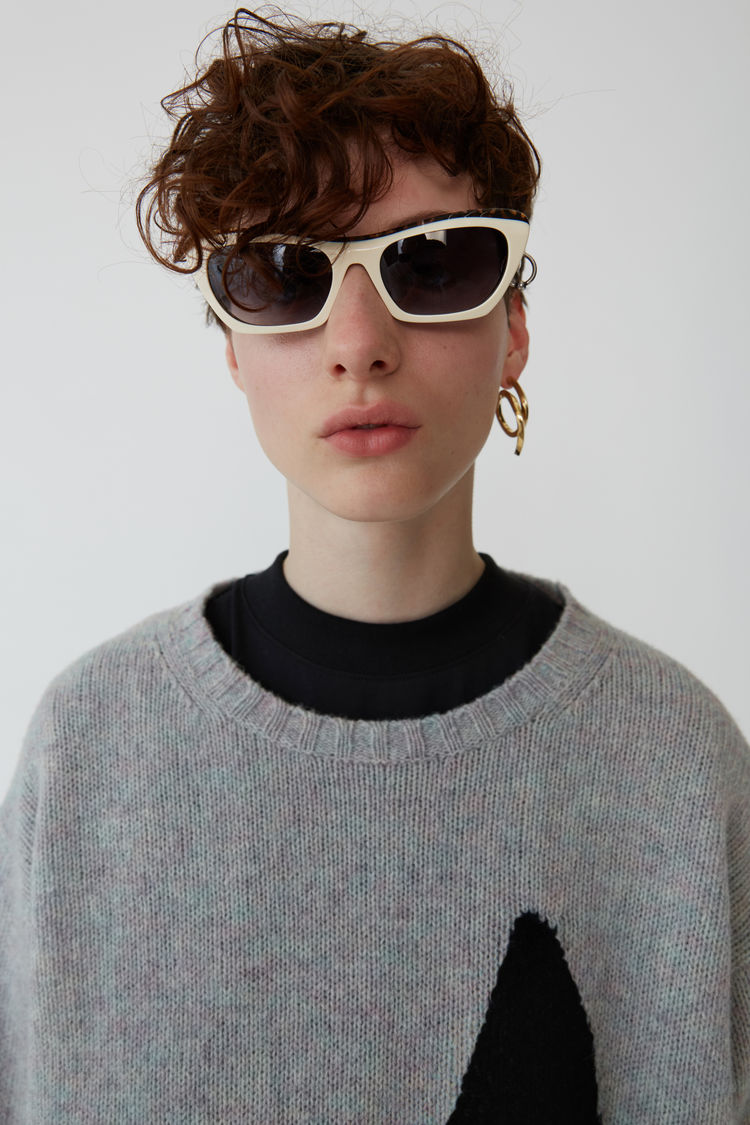 Acne Studios - Music note sweater Lilac mel/black - 2
