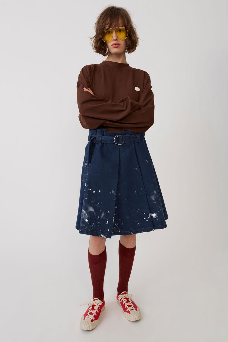 아크네 스튜디오 스커트 Acne Studios Pleated skirt denim blue