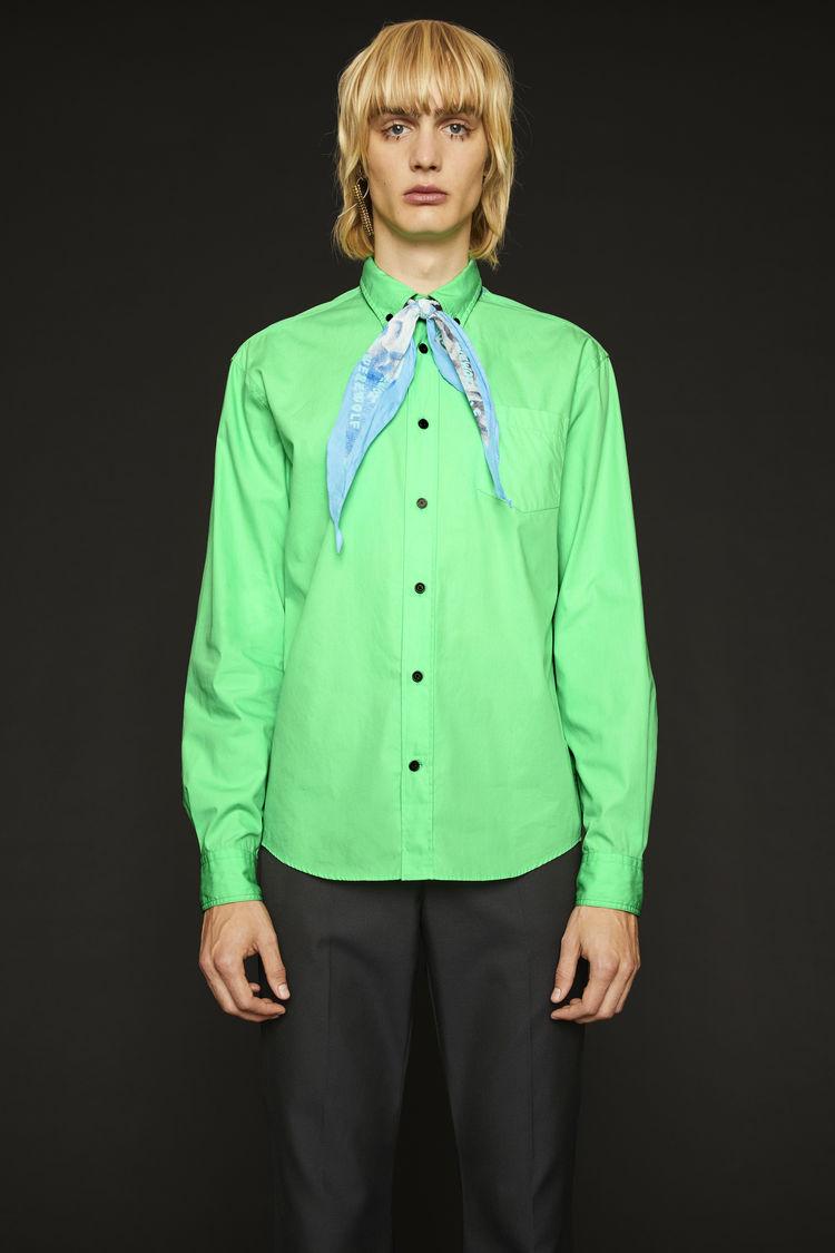 아크네 스튜디오 Acne Studios Classic cotton poplin shirt spearmint green