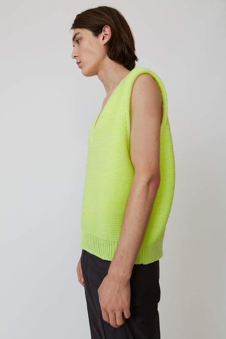 Acne Studios - Sweater vest Fluo yellow - 4
