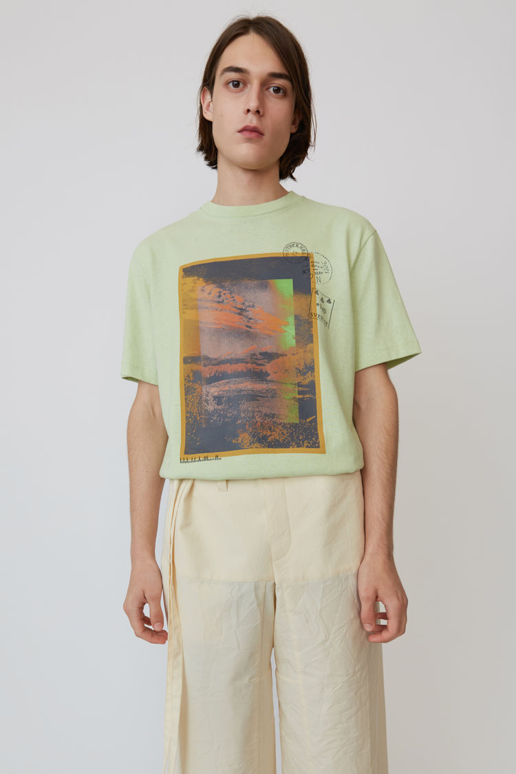 Acne Studios - Printed t-shirt Pale green - 1
