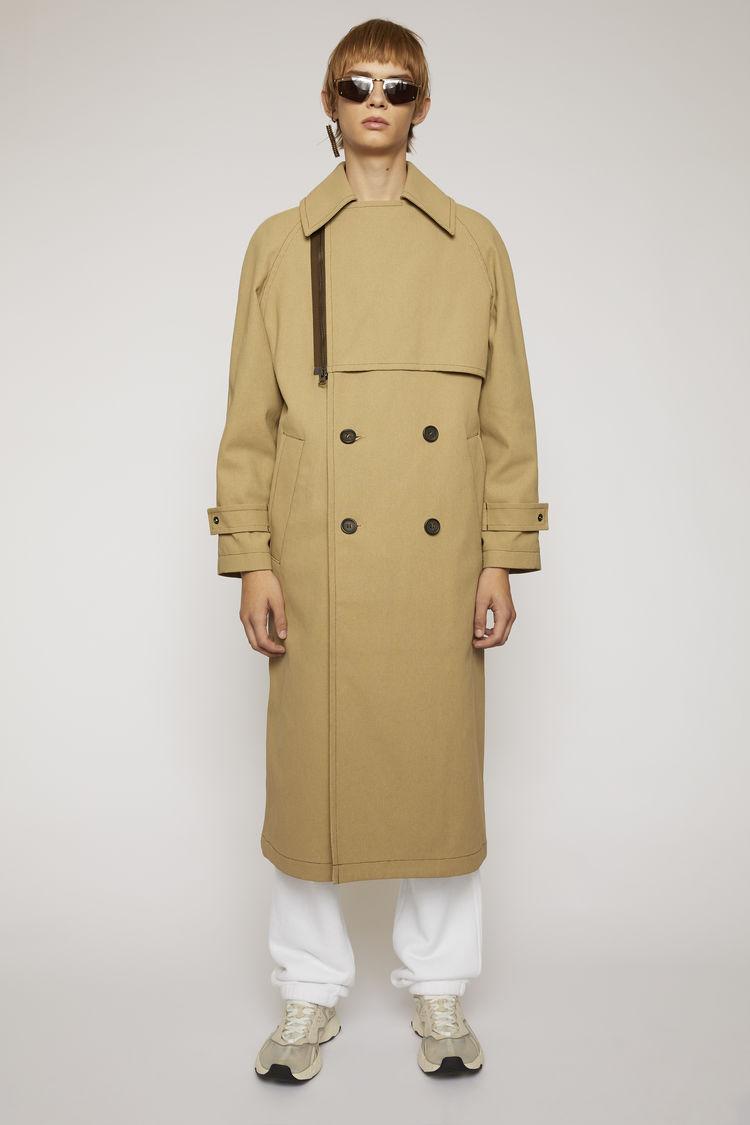 아크네 스튜디오 Acne Studios Cotton-canvas trench coat mushroom beige