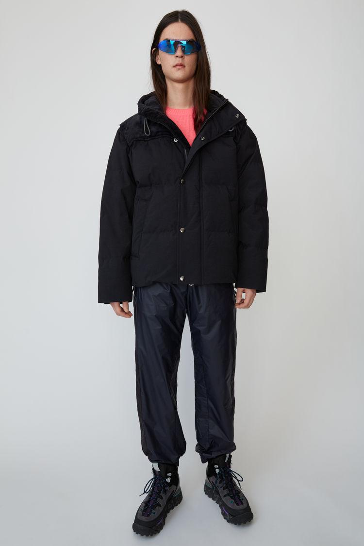아크네 스튜디오 Acne Studios Hooded down jacket black,Black
