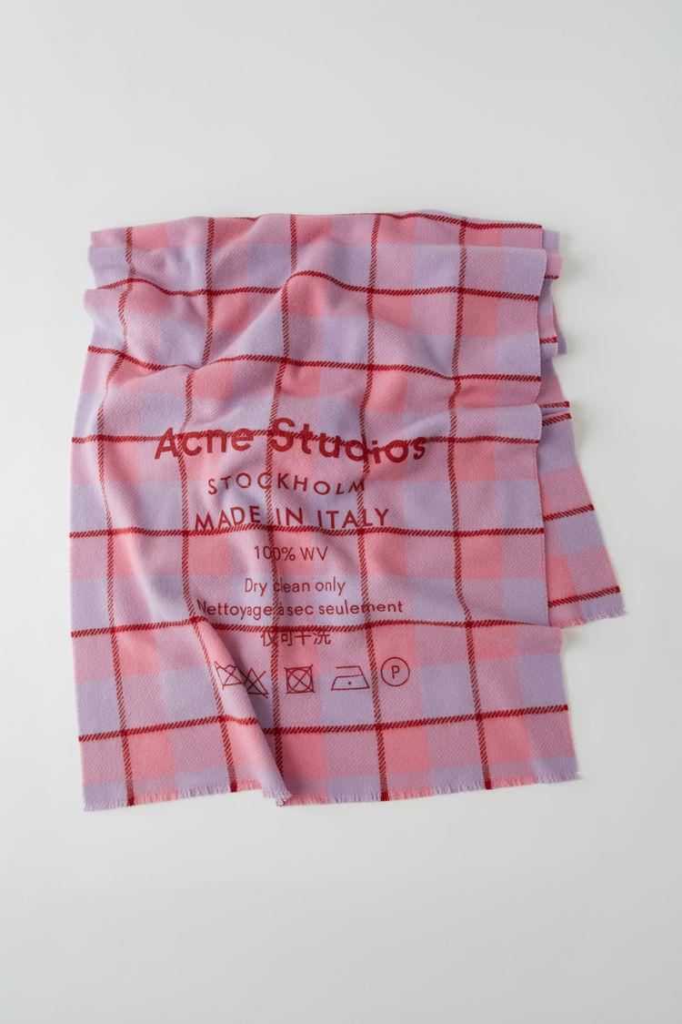 아크네 스튜디오 Acne Studios Checked logo scarf pink/lilac