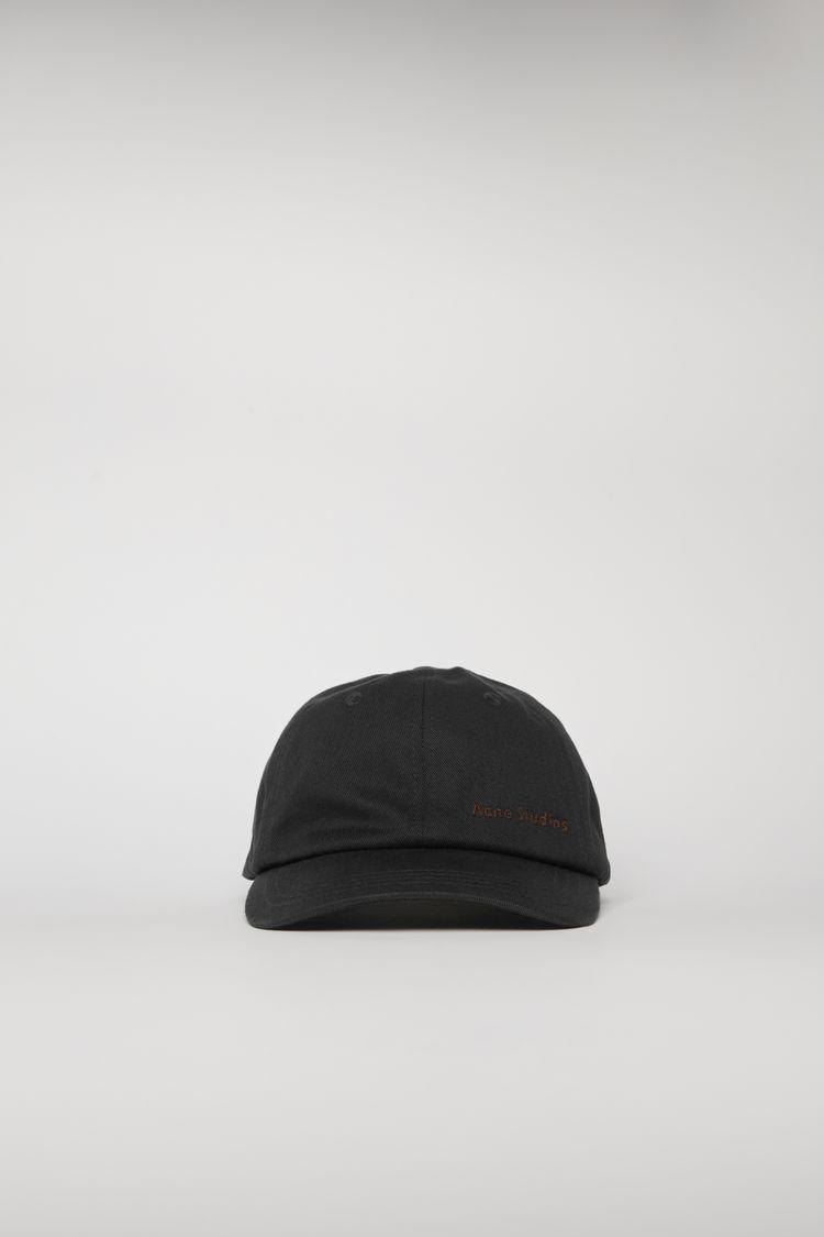아크네 스튜디오 Acne Studios Logo-embroidered cap black