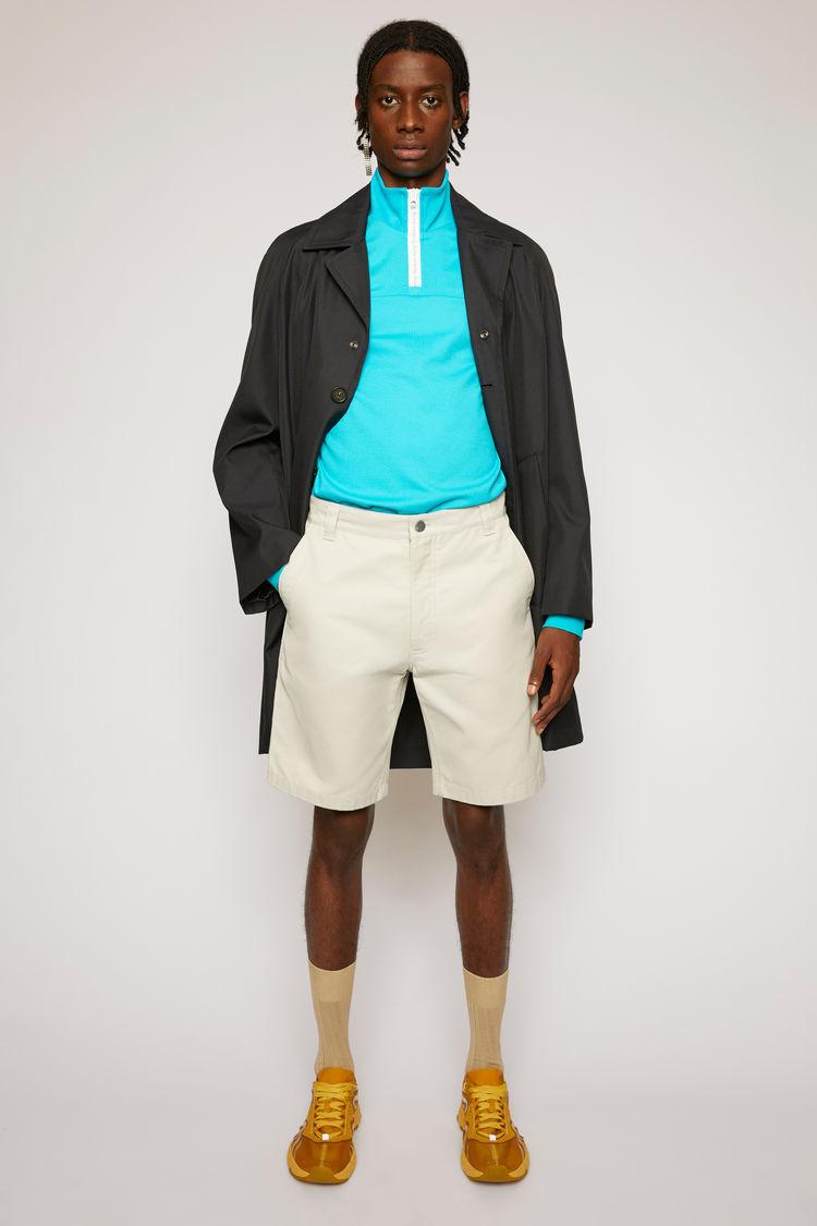 아크네 스튜디오 Acne Studios Cotton-canvas shorts oat beige