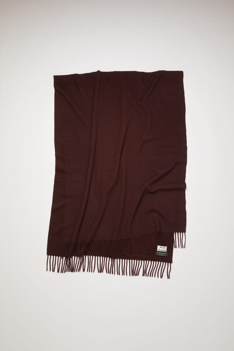 아크네 스튜디오 Acne Studios Oversized fringed scarf dark wine
