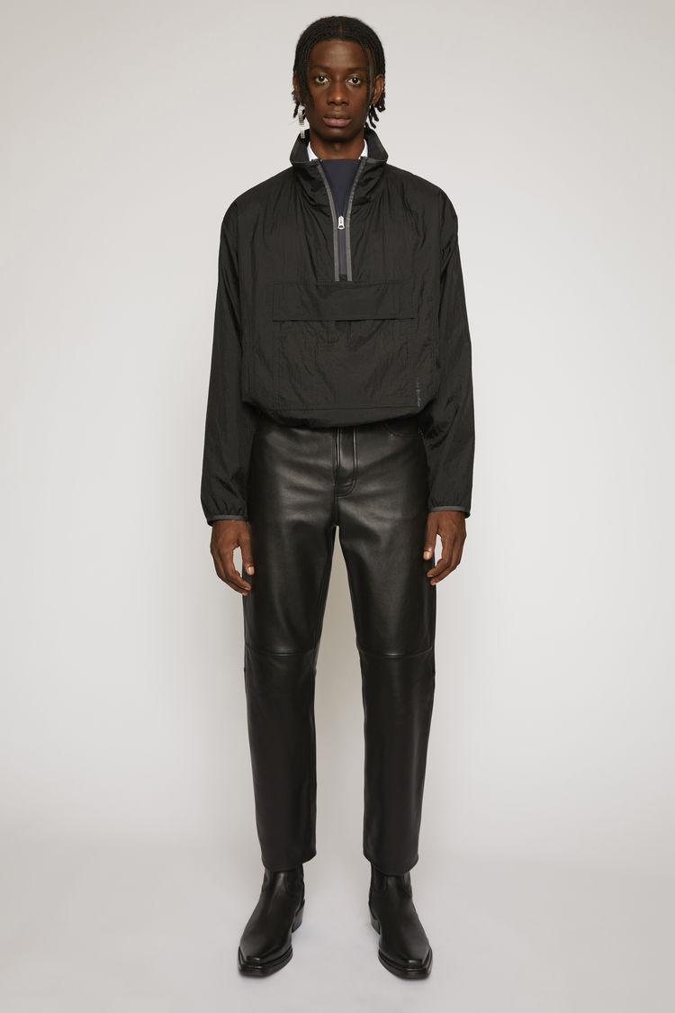 아크네 스튜디오 Acne Studios High-shine anorak jacket black