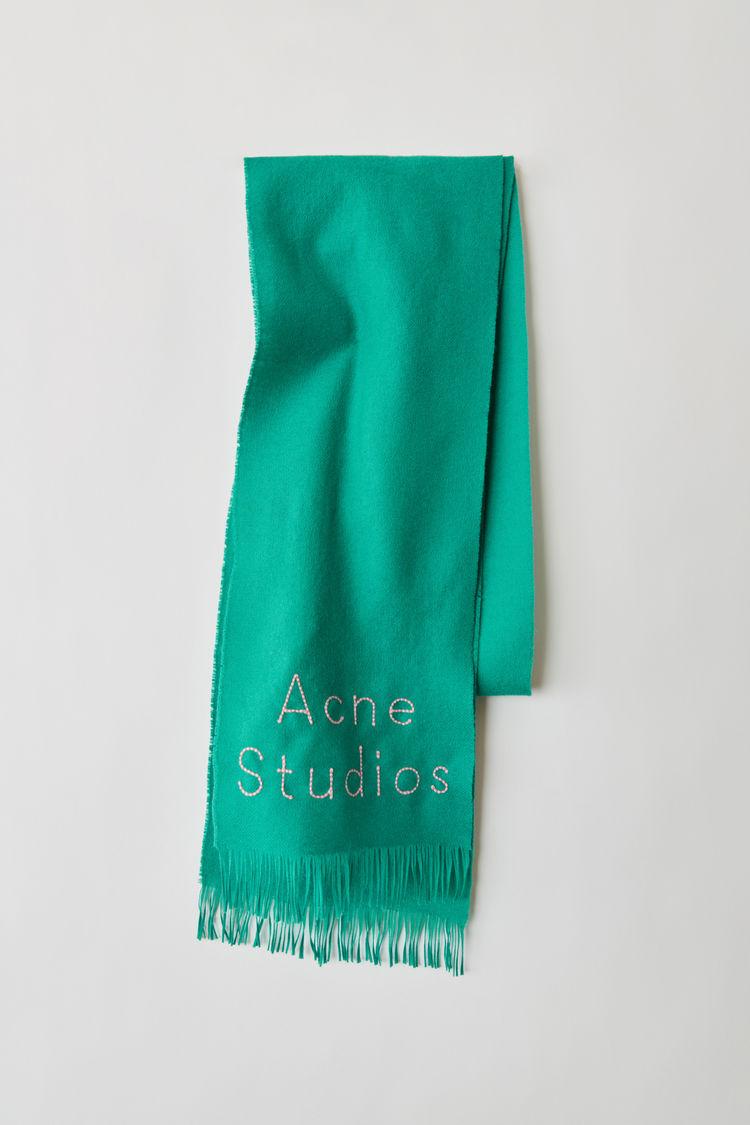 아크네 스튜디오 스카프 Acne Studios Skinny logo scarf turquoise blue