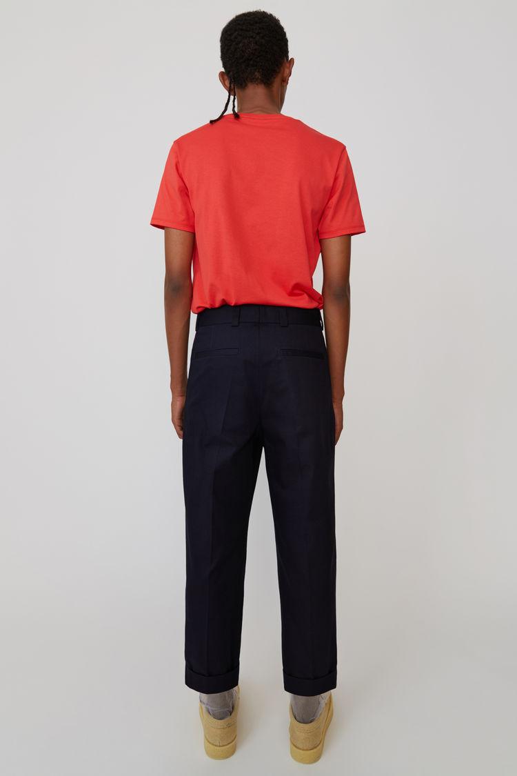 Acne Studios - Cuffed, cropped trousers Dark Blue - 3