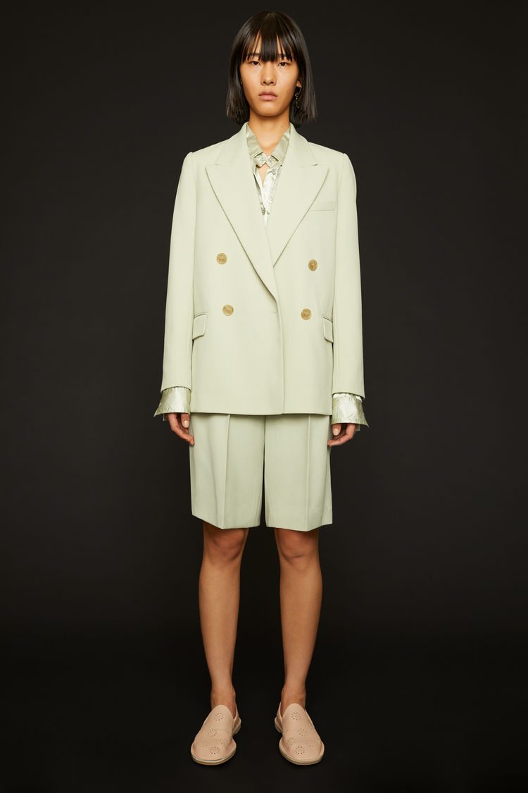 아크네 스튜디오 Acne Studios Double-breasted suit jacket pastel green