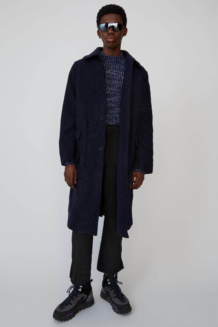 아크네 스튜디오 Acne Studios Oversized wool coat midnight blue,Midnight blue